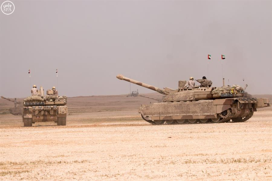 صور من التمرين العسكري الكبير رعد الشمال