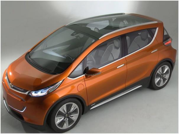 """سيارة شيفروليه """"Bolt EV"""" الجديدة ، ويتوقع أن يصل سعرها إلى نحو 30 ألف دولار."""