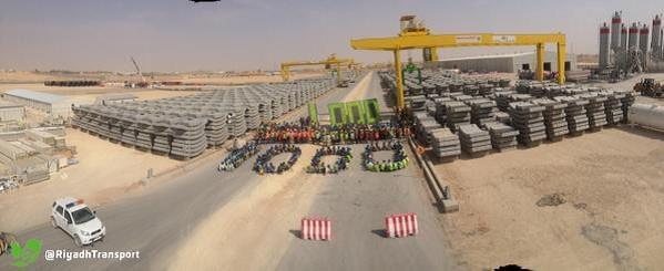 """بالصور.. أعمال تجميع وتركيب آلة حفر أنفاق قطار الرياض """"ثاقبة"""""""