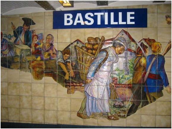 """حين وقع حادث اقتحام """"سجن الباستيل""""  عام 1789، والذي كان بمثابة شرارة إندلاع الثورة الفرنسية، بيعت أجزاء من السجن في اليوم التا"""