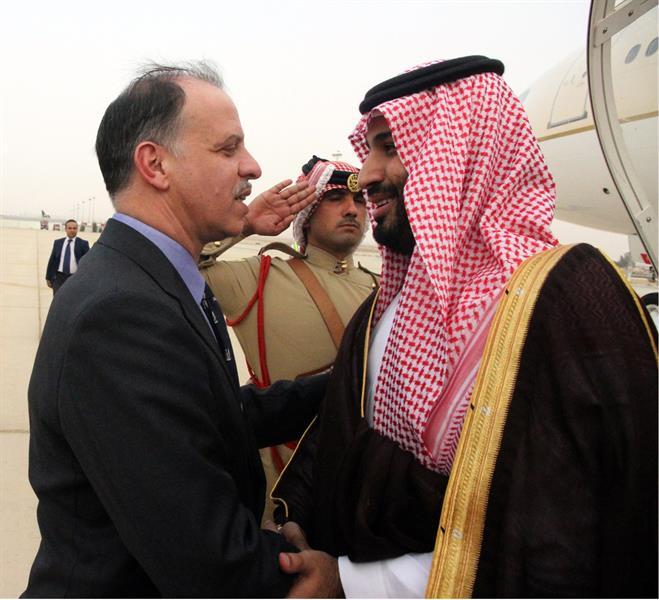بالصور.. ولي ولي العهد يصل إلى الأردن