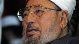 """القرضاوي يدعو إلى محاكمة من قاموا بـ""""محرقة"""" في رابعة العدوية بمصر"""