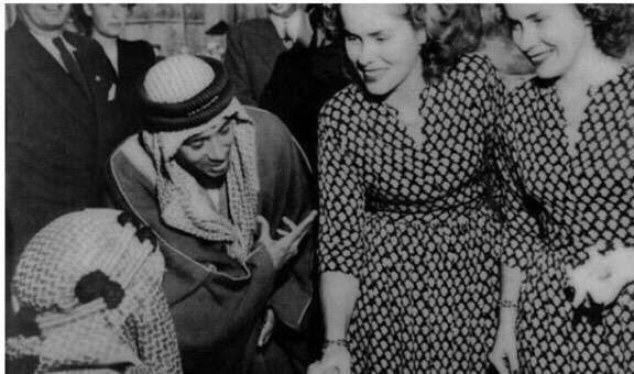 التوأم الامريكي مع الملك عبدالعزيز