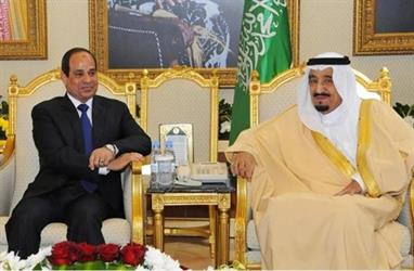 الملك سلمان بن عبدالعزيز - عبدالفتاح السيسي