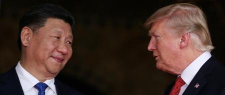 ترامب ونظيره الصيني شي جين بينغ