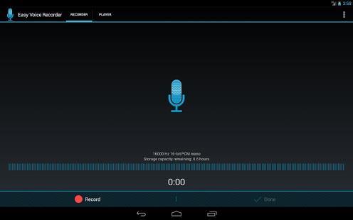 تطبيق Easy Voice Recorder لتسجيل الصوت بجودة عالية، وهو متاح مجاناً لمستخدمي أندرويد فقط.