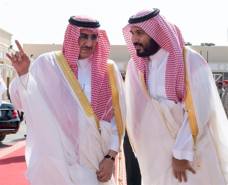 محمد بن زايد يصل الرياض.. وولي العهد وولي ولي العهد في مقدمة مستقبليه