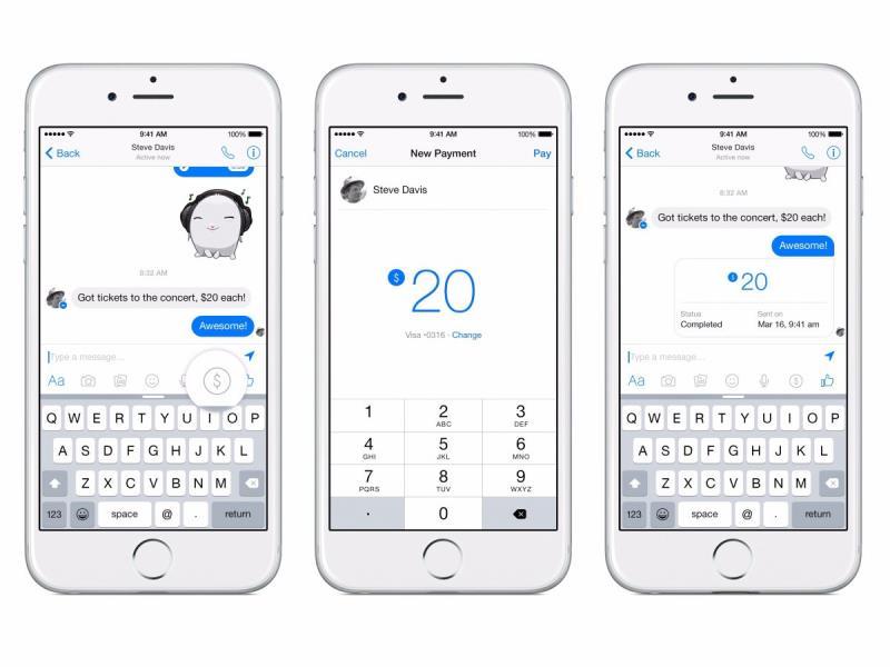 facebook messenger Send people money 2