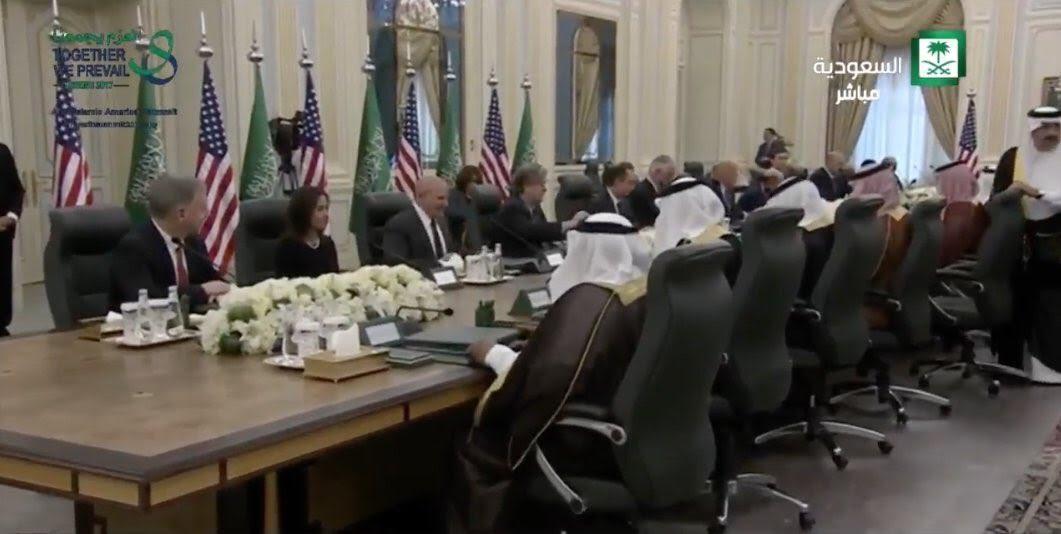 بالصور.. بدء القمة السعودية - الأمريكية في قصر اليمامة