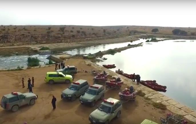 البحث عن الفتاة المفقودة في بحيرة وادي الحائر