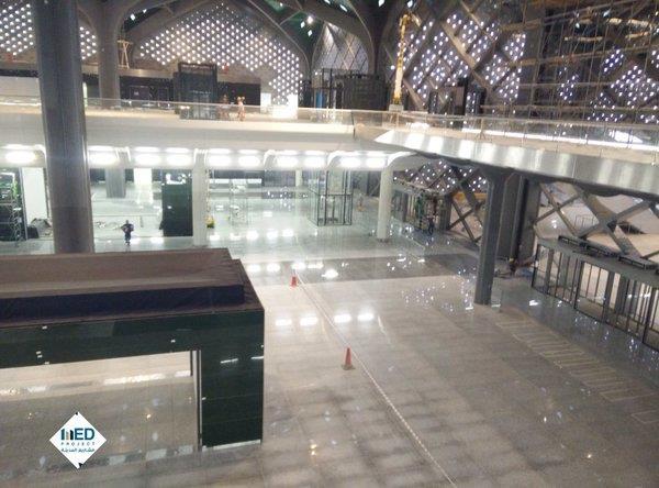 بالصور.. اكتمال الأعمال الإنشائية في محطة قطار الحرمين بالمدينة المنورة