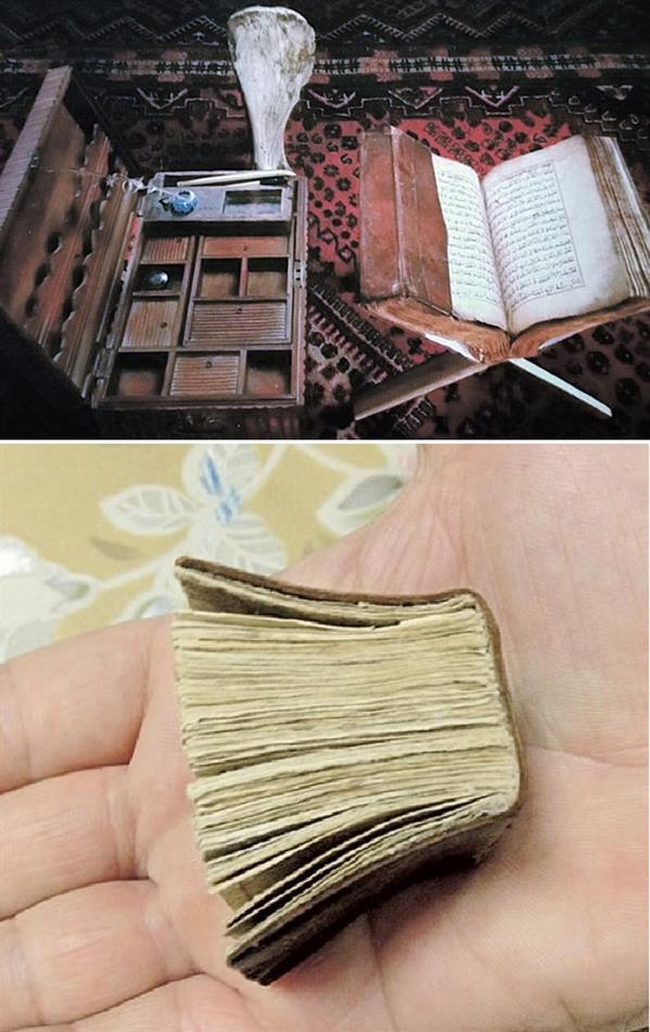 صور لنسخ قديمة مخطوطة باليد لمصاحف