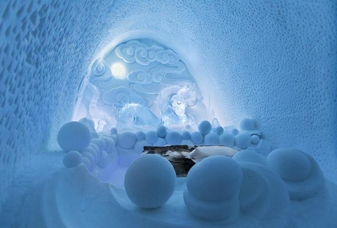 بالصور .. فندق من الجليد في السويد