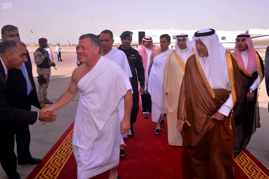 الملك عبدالله الثاني يصل إلى جدة