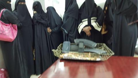 القبض على 5 سعوديين و8 أجنبيات بحوزتهم 91 طلقة نارية