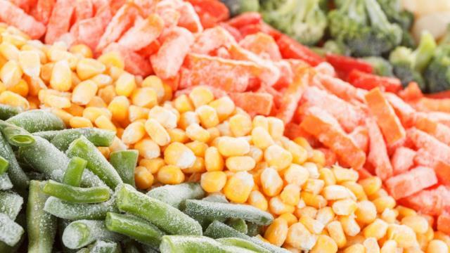 5) الخضراوات المجمدة: