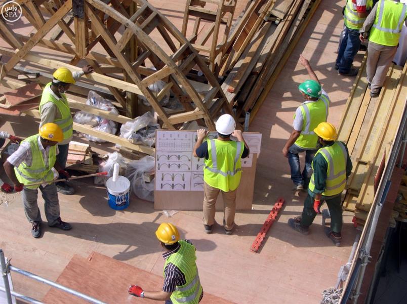 استئناف الأعمال بالمسجد الحرام لرفع الطاقة الاستيعابية لصحن المطاف
